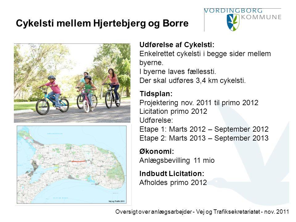 Cykelsti mellem Hjertebjerg og Borre