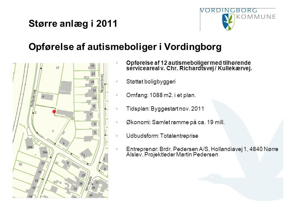 Større anlæg i 2011 Opførelse af autismeboliger i Vordingborg