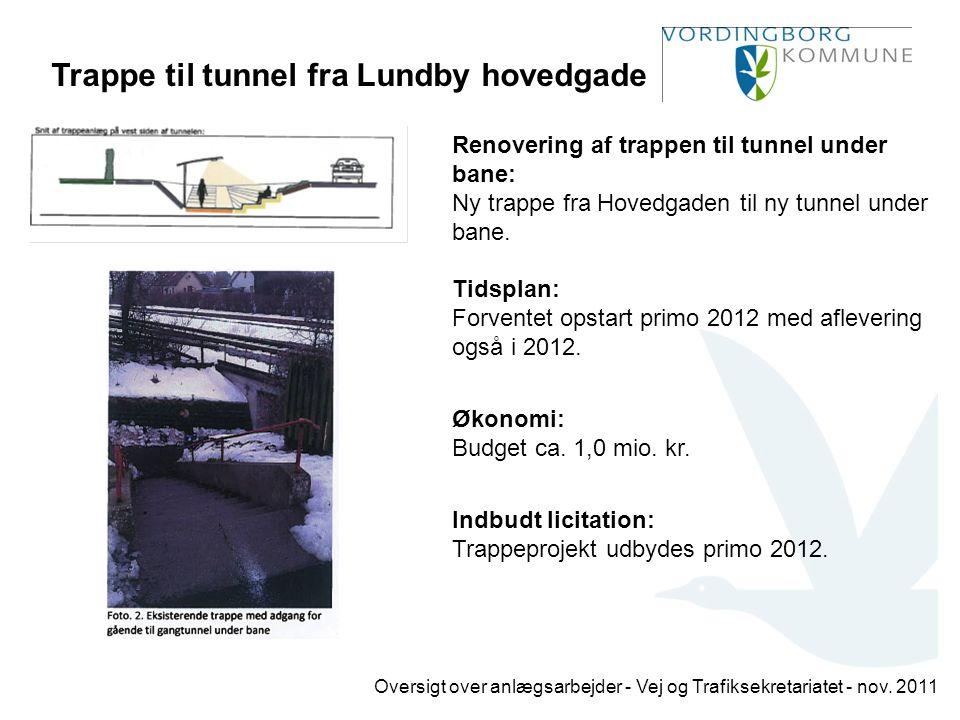 Trappe til tunnel fra Lundby hovedgade