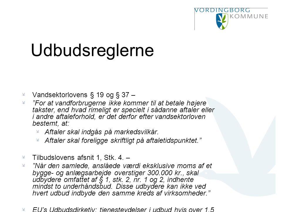 Udbudsreglerne Vandsektorlovens § 19 og § 37 –