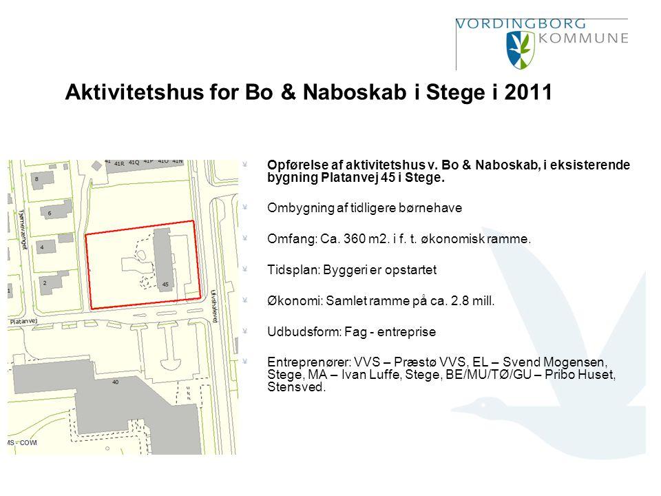 Aktivitetshus for Bo & Naboskab i Stege i 2011