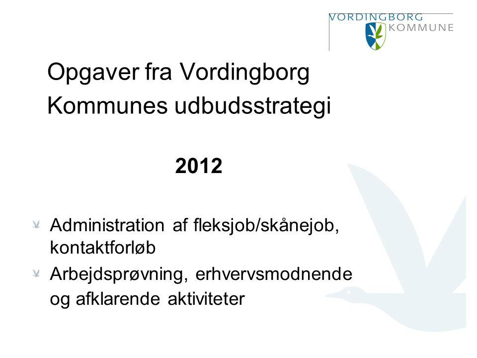 Opgaver fra Vordingborg Kommunes udbudsstrategi