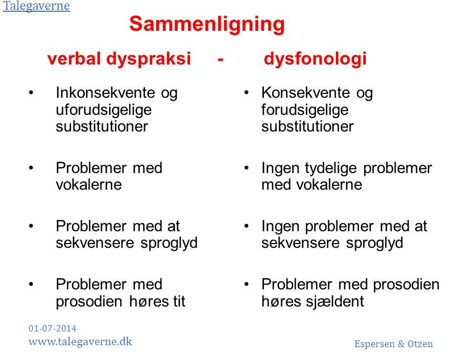 verbal dyspraksi - dysfonologi
