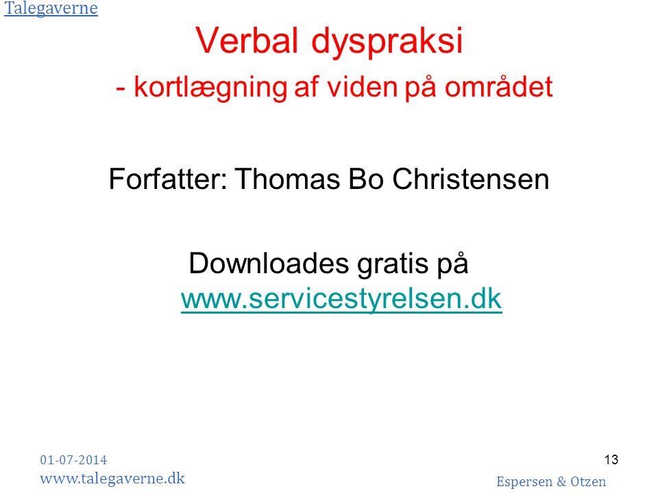Verbal dyspraksi - kortlægning af viden på området