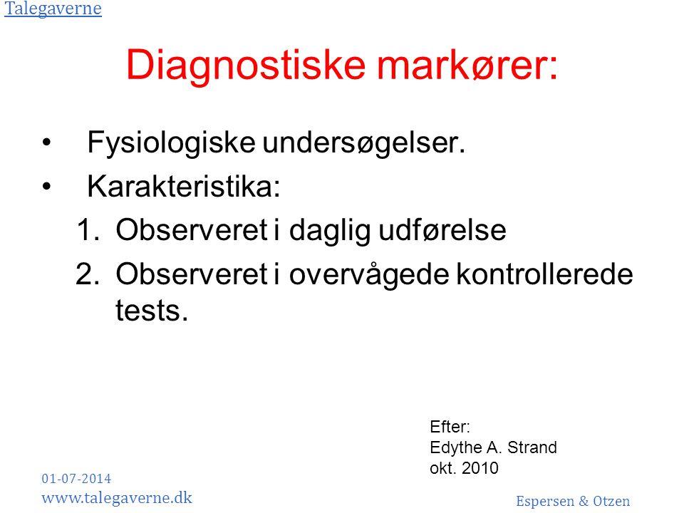 Diagnostiske markører: