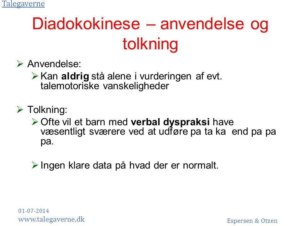 Diadokokinese – anvendelse og tolkning