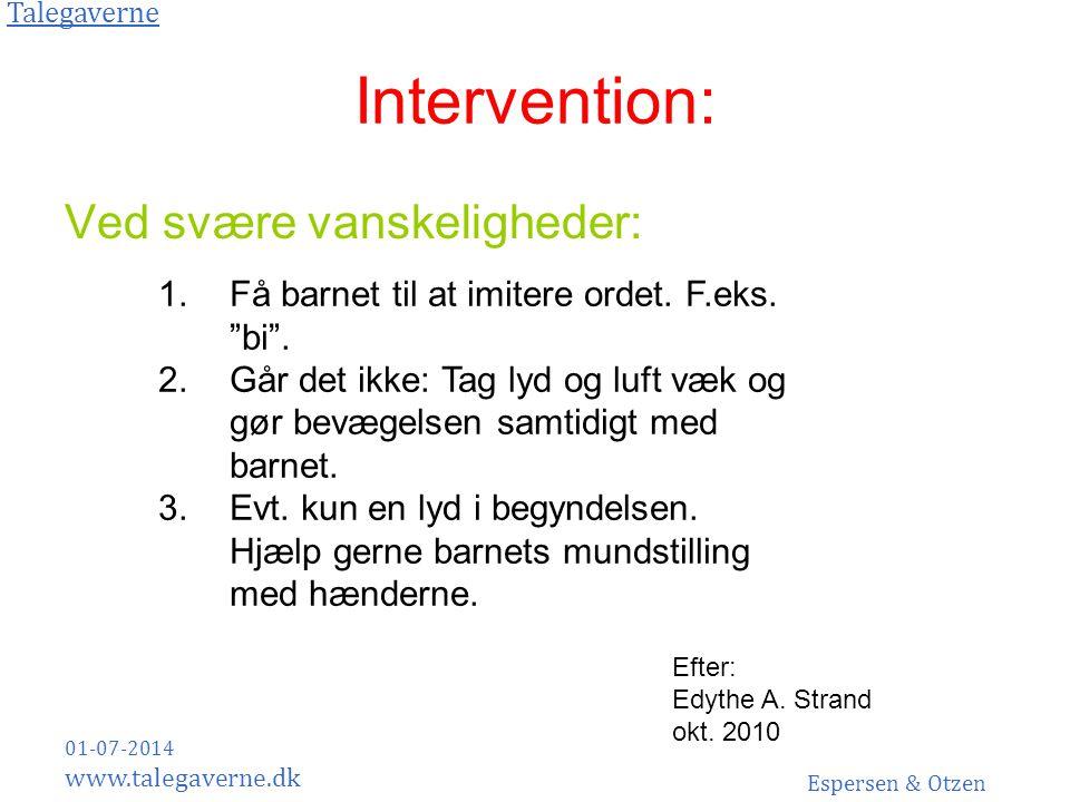 Intervention: Ved svære vanskeligheder: