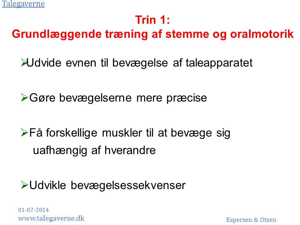 Grundlæggende træning af stemme og oralmotorik
