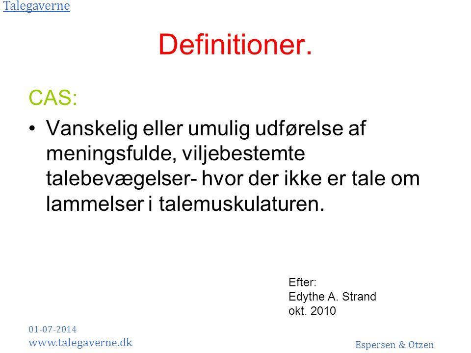 Definitioner. CAS: