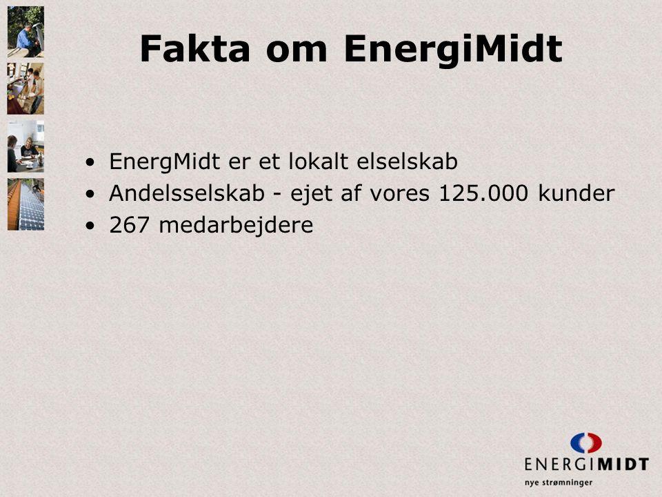Fakta om EnergiMidt EnergMidt er et lokalt elselskab