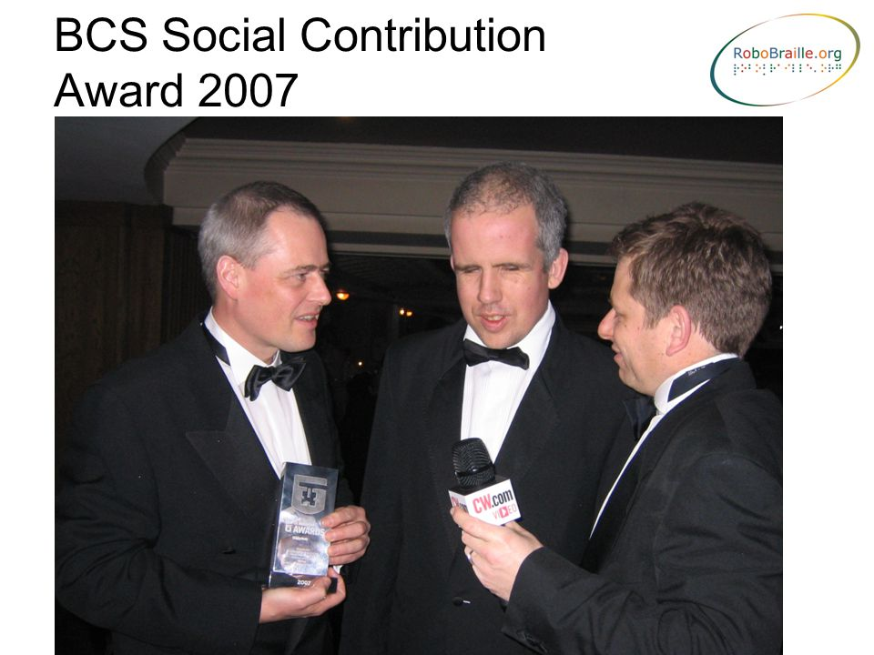 BCS Social Contribution Award 2007