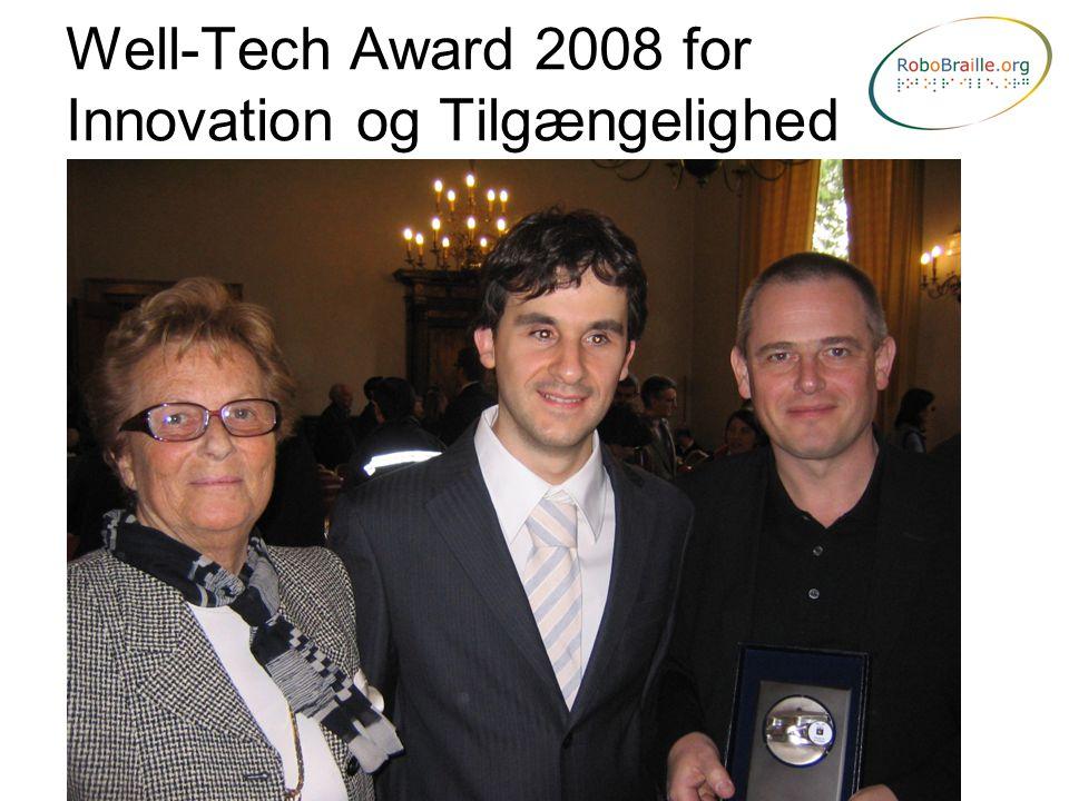 Well-Tech Award 2008 for Innovation og Tilgængelighed