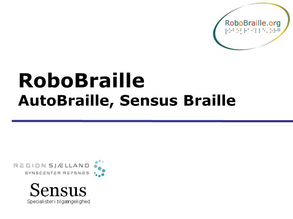 RoboBraille AutoBraille, Sensus Braille