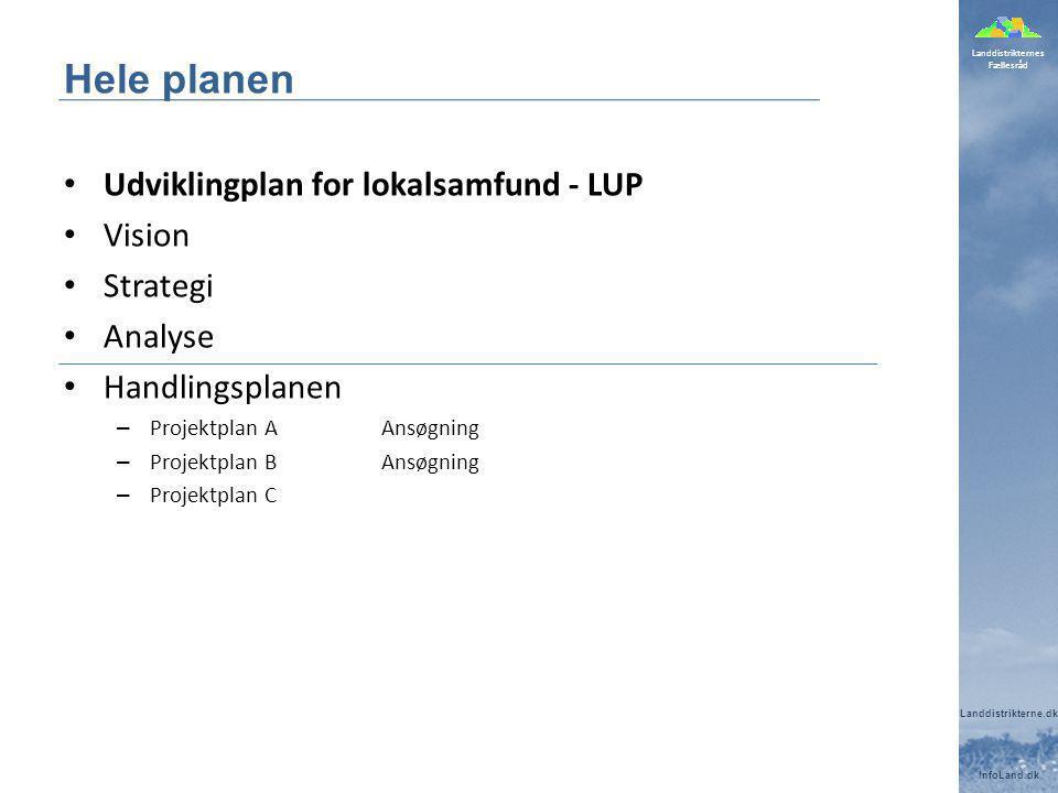Hele planen Udviklingplan for lokalsamfund - LUP Vision Strategi