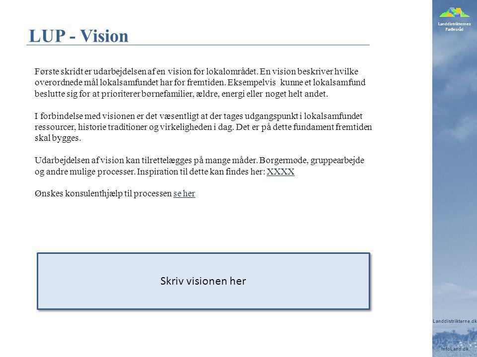LUP - Vision Skriv visionen her