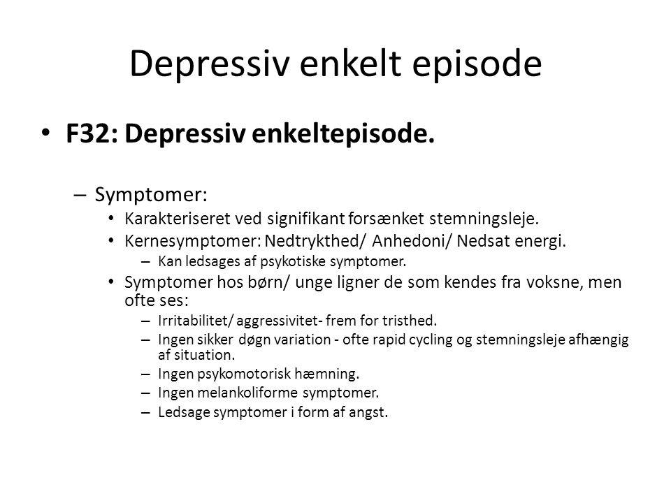 Depressiv enkelt episode