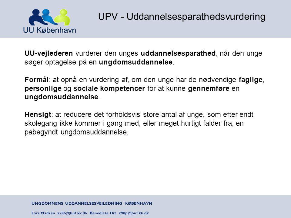 UPV - Uddannelsesparathedsvurdering