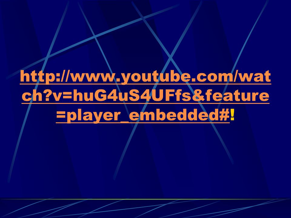 http://www.youtube.com/watch v=huG4uS4UFfs&feature=player_embedded#!