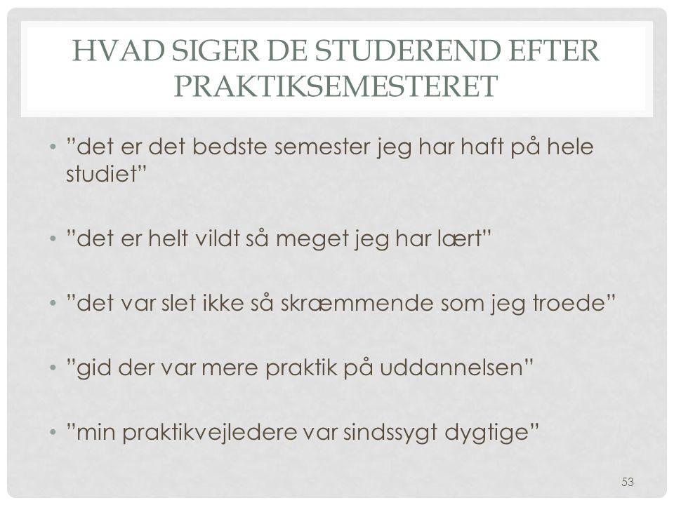 Hvad siger de studerend efter praktiksemesteret