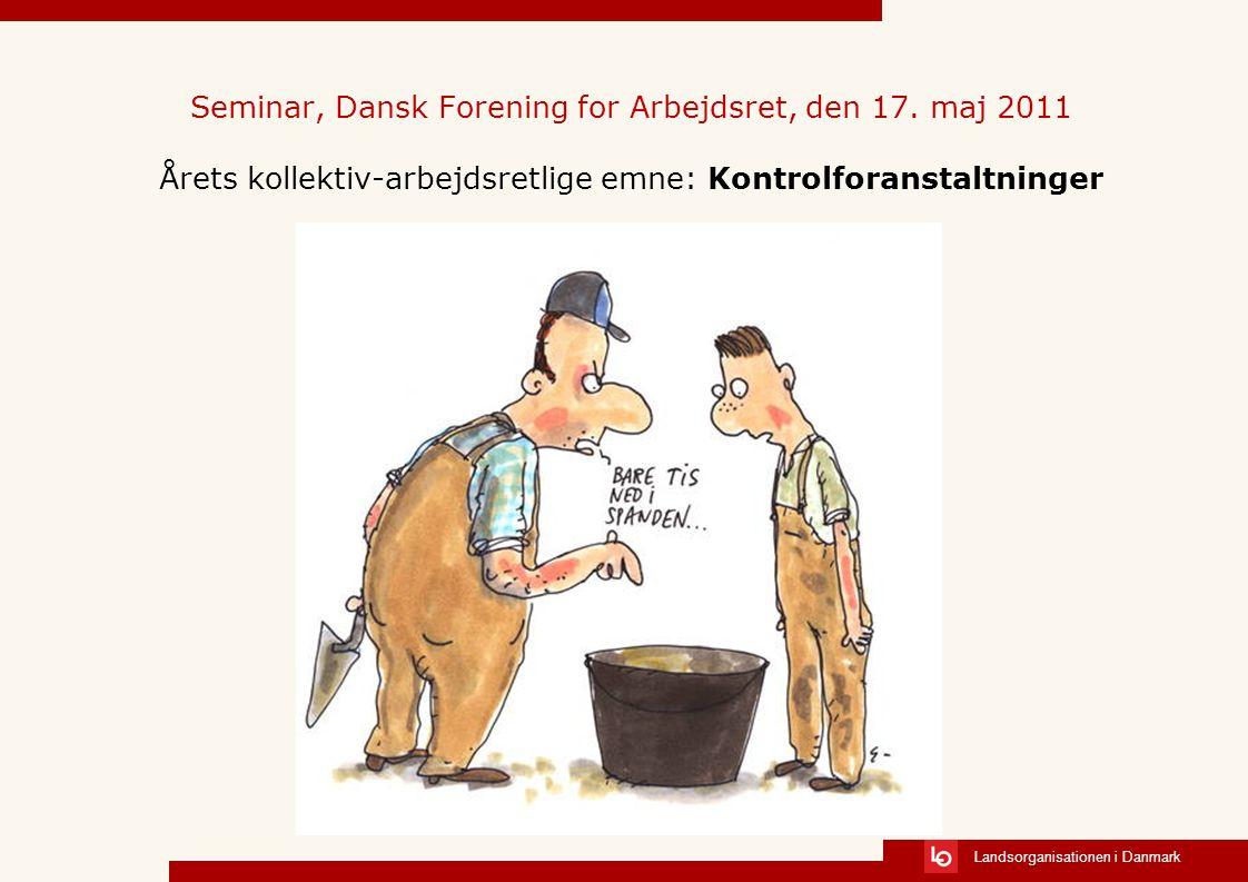 Seminar, Dansk Forening for Arbejdsret, den 17