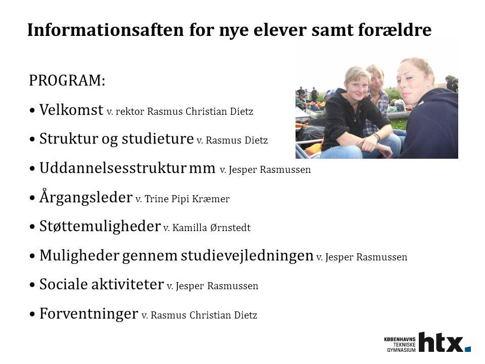 Informationsaften for nye elever samt forældre