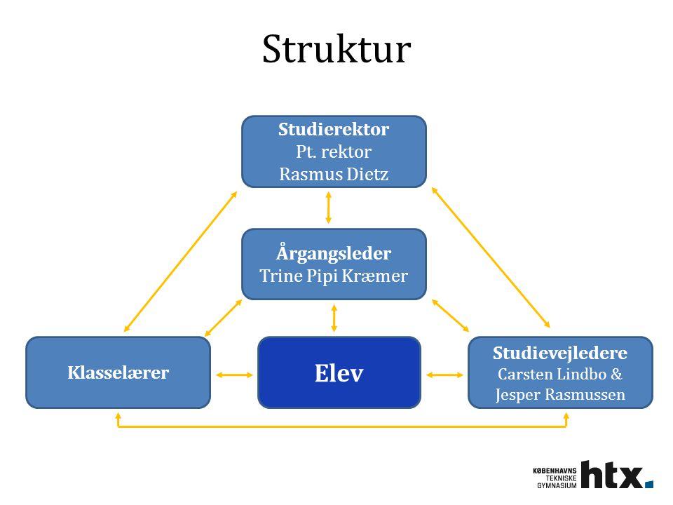 Struktur Elev Studierektor Pt. rektor Rasmus Dietz Årgangsleder