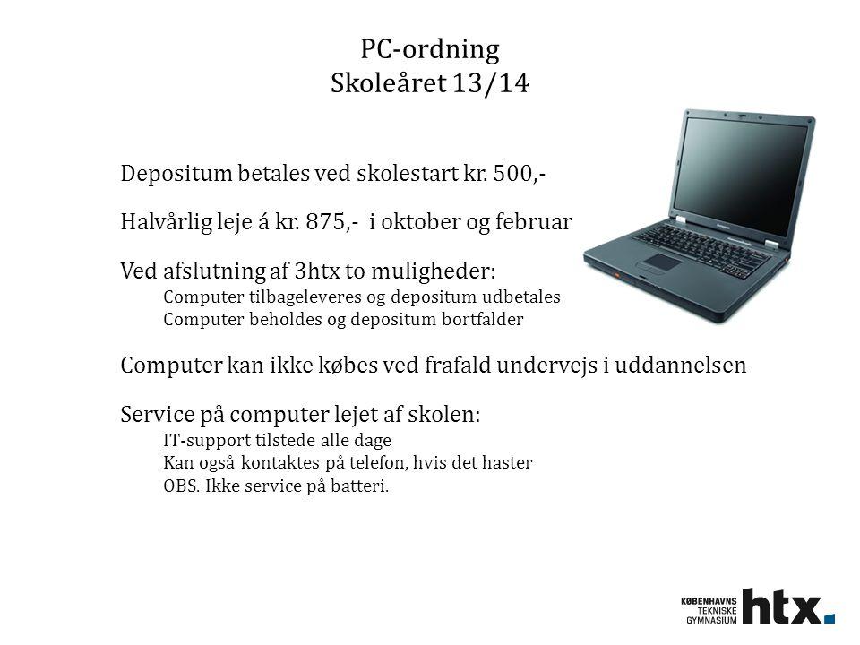 PC-ordning Skoleåret 13/14