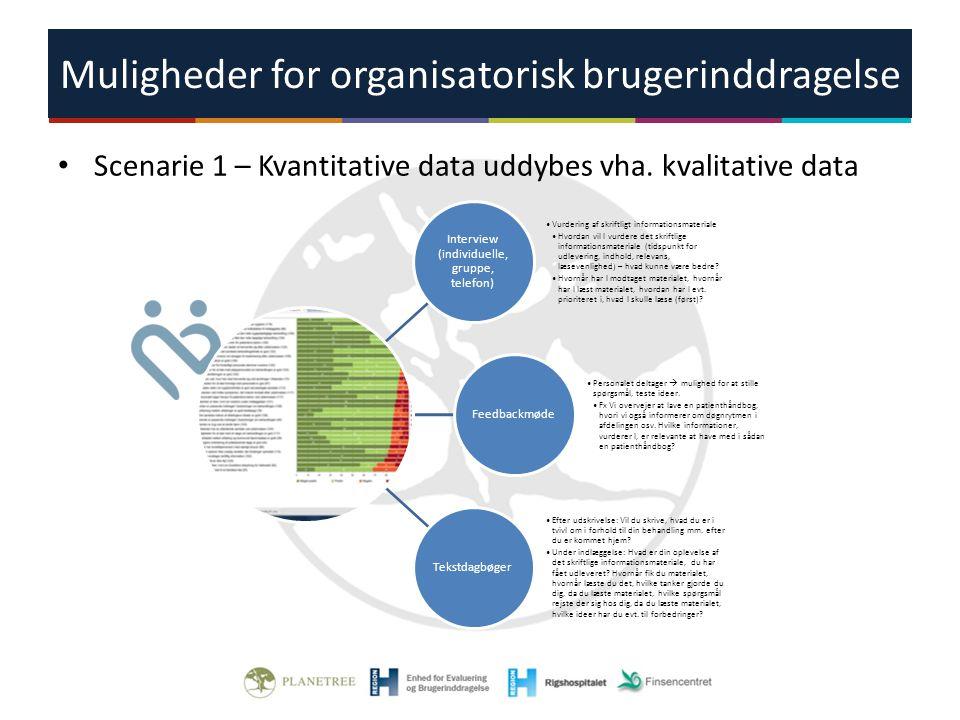 Muligheder for organisatorisk brugerinddragelse
