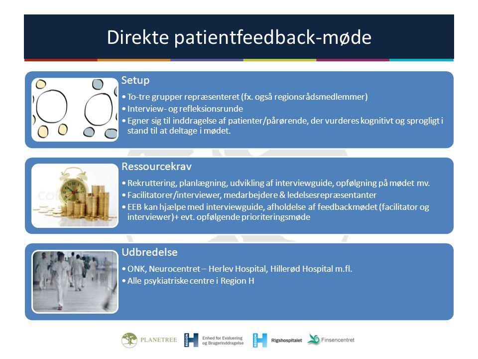 Direkte patientfeedback-møde