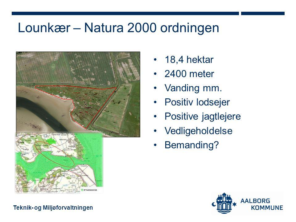 Lounkær – Natura 2000 ordningen