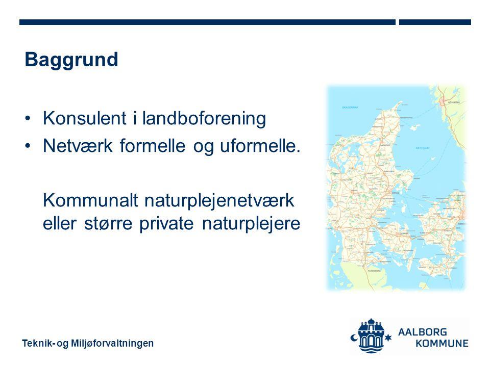Baggrund Konsulent i landboforening Netværk formelle og uformelle.