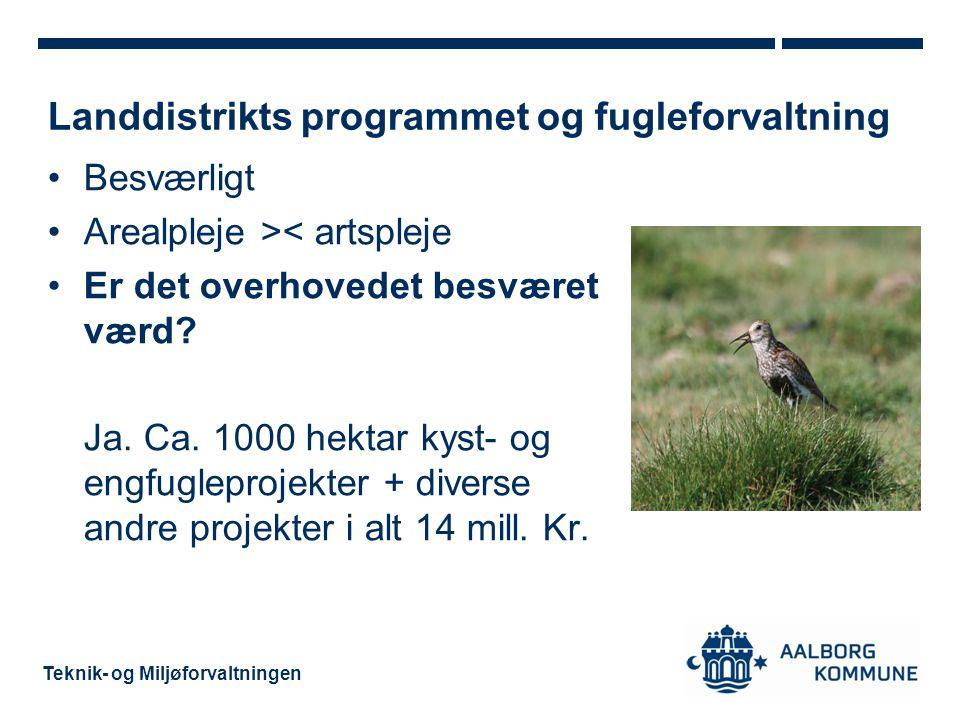 Landdistrikts programmet og fugleforvaltning