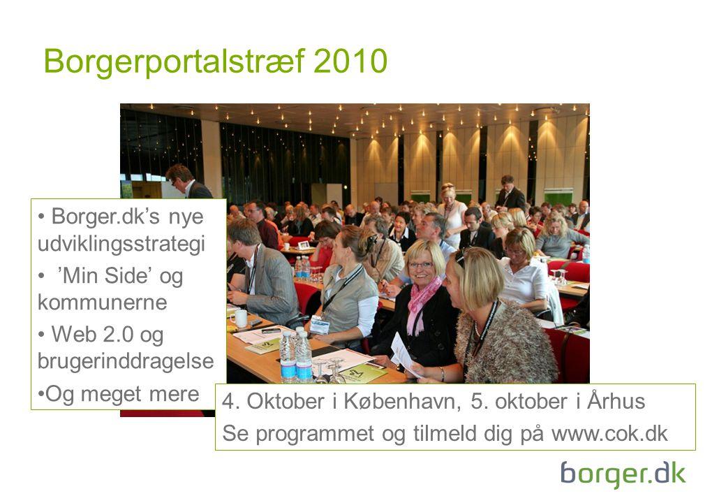 Borgerportalstræf 2010 Borger.dk's nye udviklingsstrategi