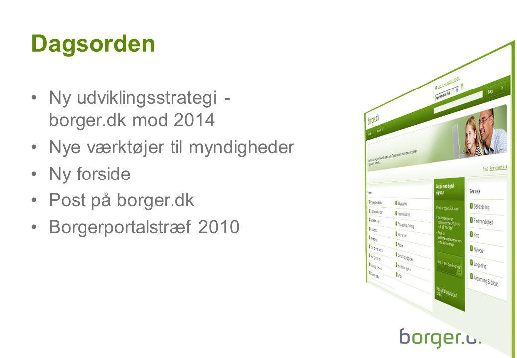 Dagsorden Ny udviklingsstrategi - borger.dk mod 2014
