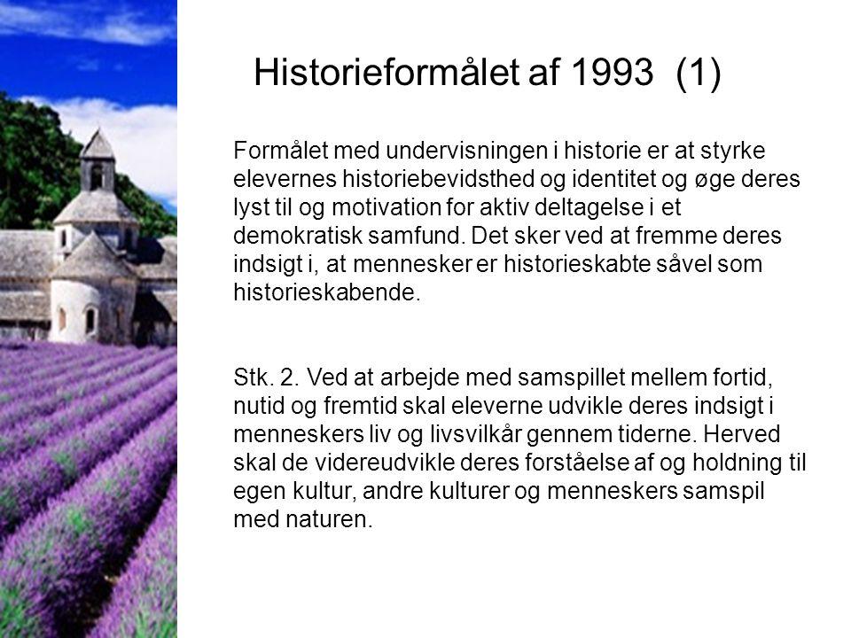 Historieformålet af 1993 (1)