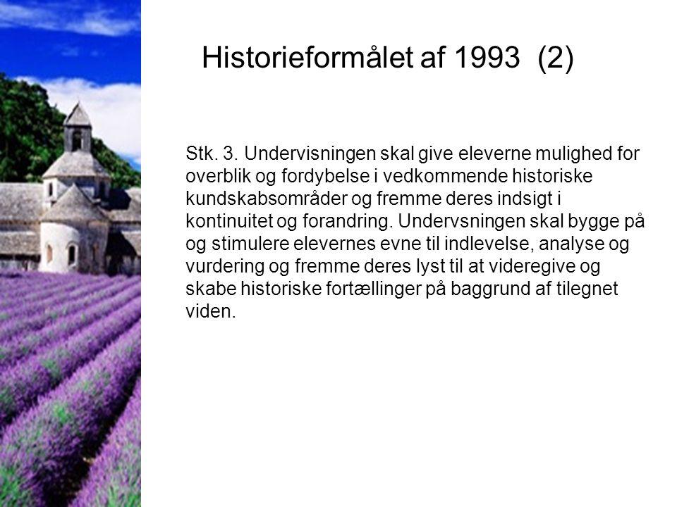 Historieformålet af 1993 (2)
