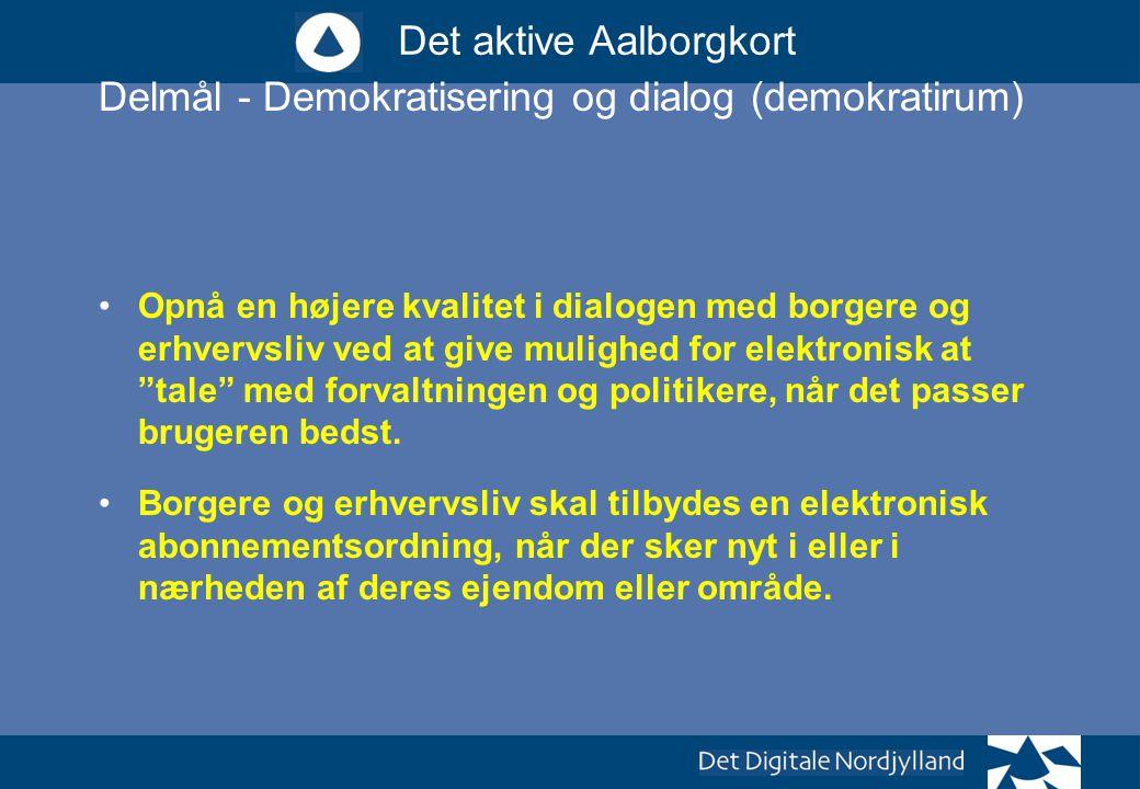 Delmål - Demokratisering og dialog (demokratirum)