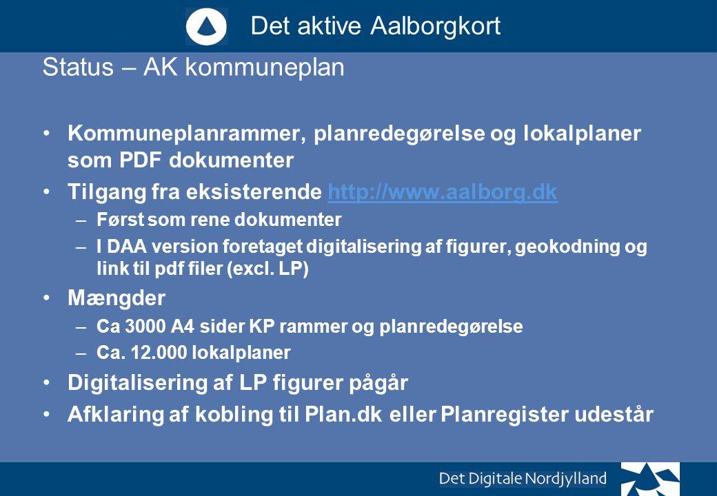 Status – AK kommuneplan