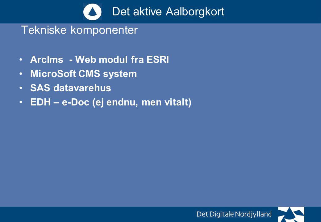 Tekniske komponenter ArcIms - Web modul fra ESRI MicroSoft CMS system
