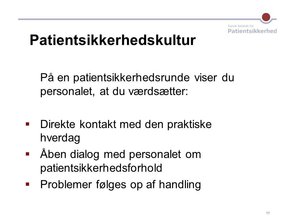 Patientsikkerhedskultur