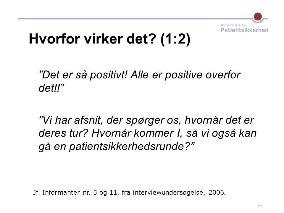 17-04-03 Hvorfor virker det (1:2) Det er så positivt! Alle er positive overfor det!!
