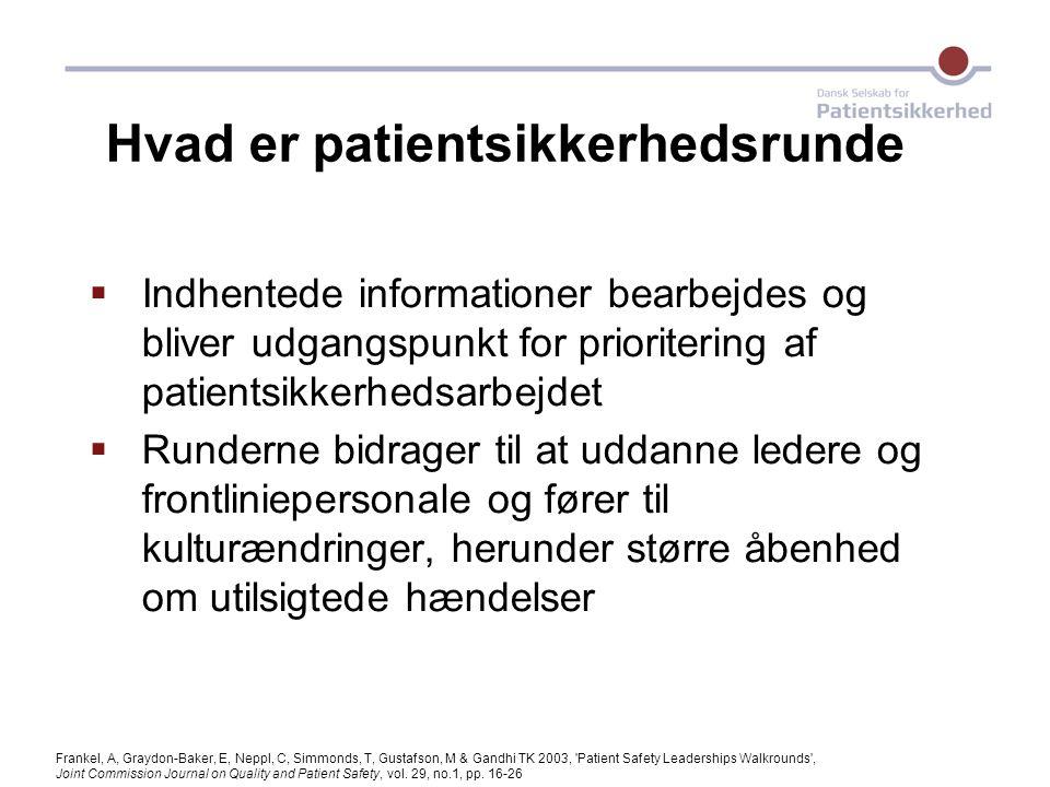 Hvad er patientsikkerhedsrunde