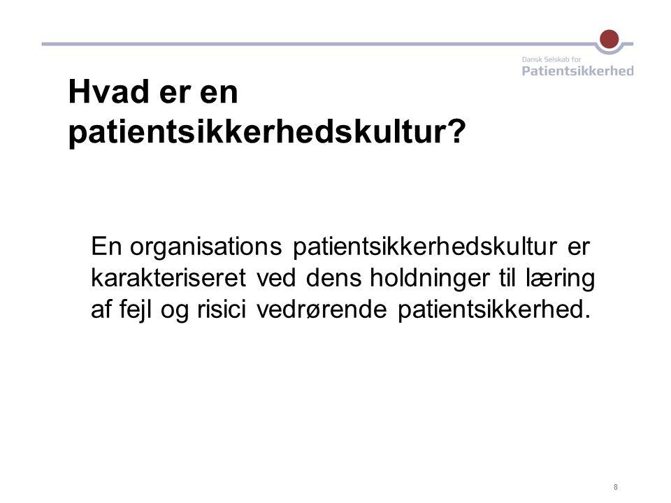 Hvad er en patientsikkerhedskultur