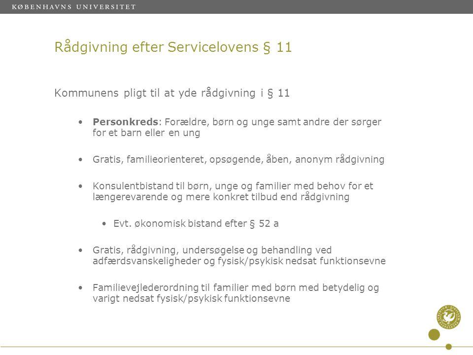 Rådgivning efter Servicelovens § 11