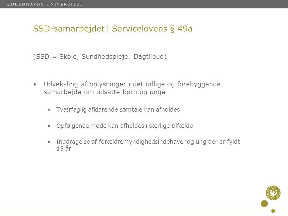 SSD-samarbejdet i Servicelovens § 49a