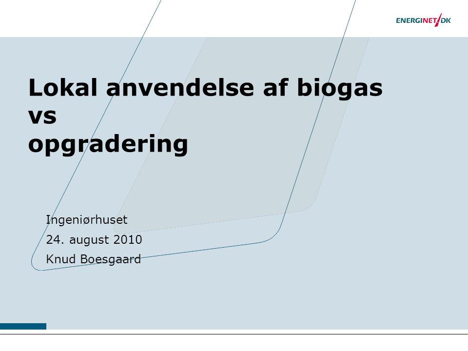 Lokal anvendelse af biogas vs opgradering