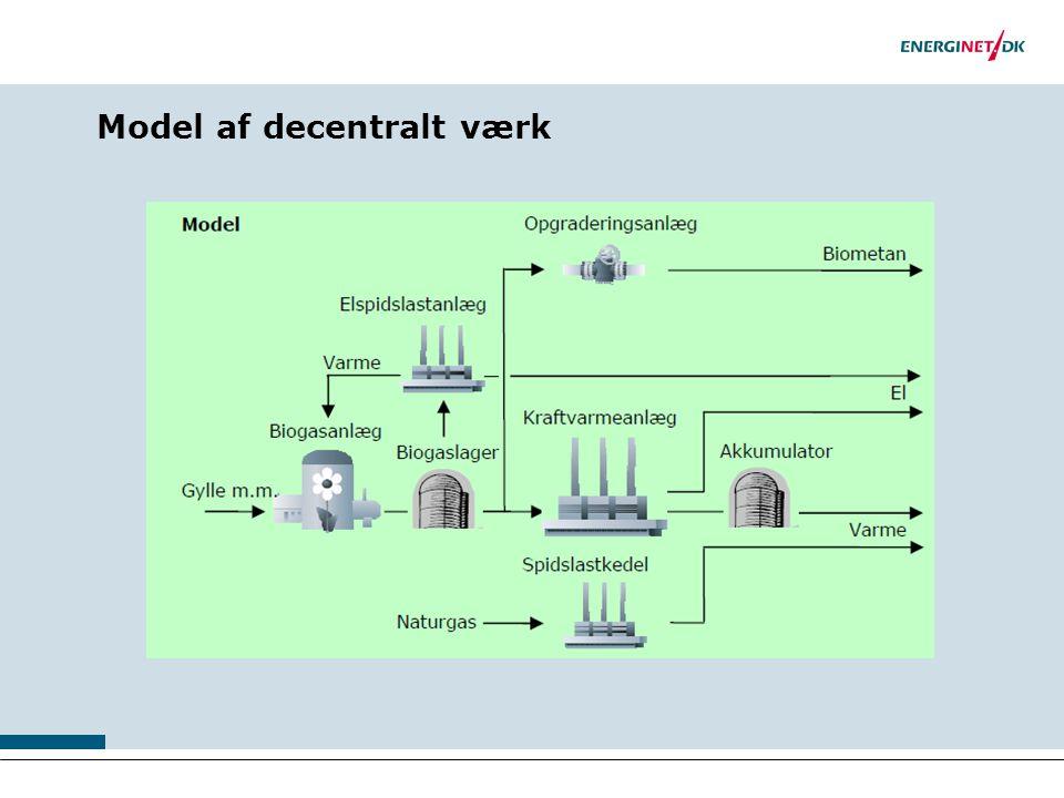 Model af decentralt værk