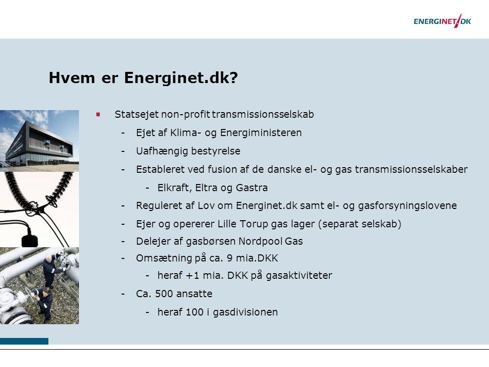 Hvem er Energinet.dk Statsejet non-profit transmissionsselskab