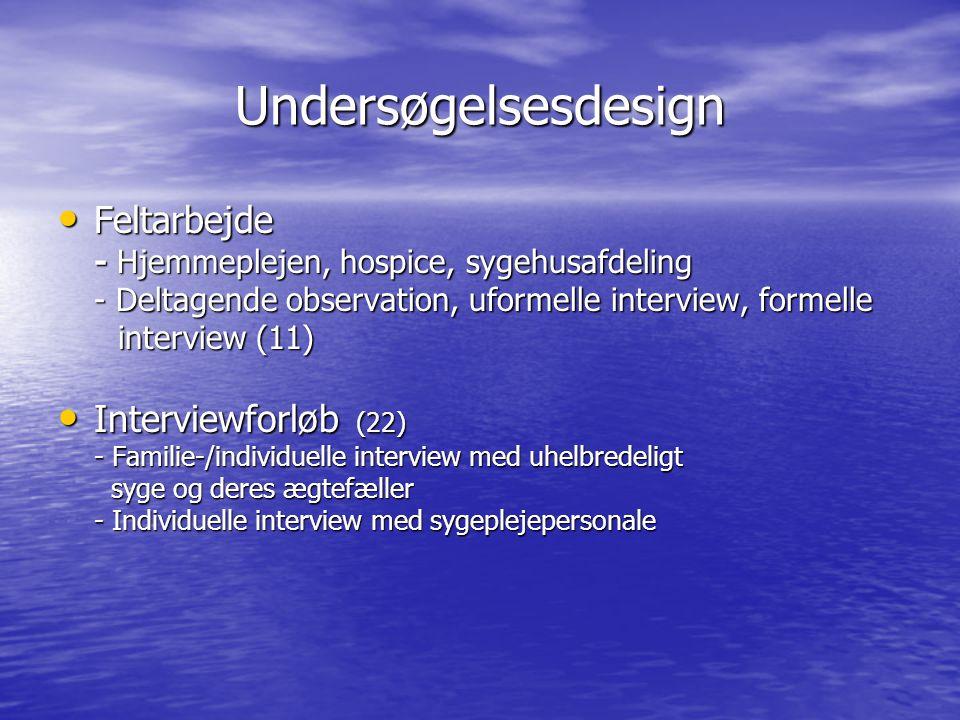Undersøgelsesdesign Feltarbejde Interviewforløb (22)