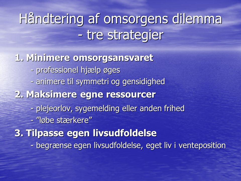 Håndtering af omsorgens dilemma - tre strategier